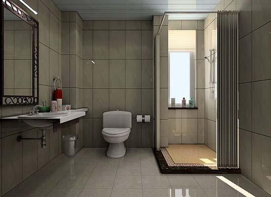洗手间本身就是比较私密的地方,不适合装在显眼的地方,正对门装修确实
